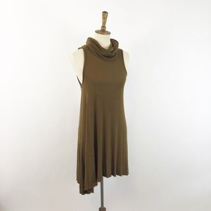 Nordstroms BP Burnt Mustard Ochre Turtleneck Dress